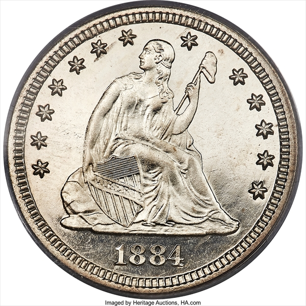 GFRC Open Set Registry - Winesteven 1866-1891 Seated With Motto 25C